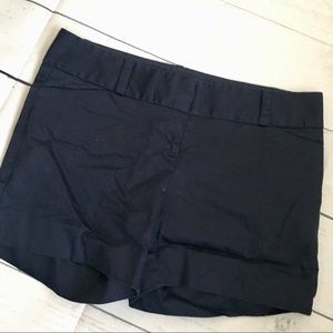 The Limited Navy Blue flat front short